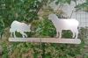 Gartenaufsteller - Border Collie & Schaf